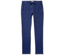 Troy Slim-fit Linen Drawstring Trousers