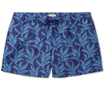 Arlen Slim-fit Mid-length Printed Swim Shorts
