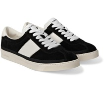 Bannister Leather-Trimmed Suede Sneakers