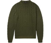 Cable-knit Mélange Cashmere Sweater