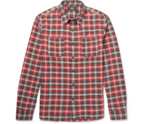 Tradesman Checked Cotton-flannel Shirt
