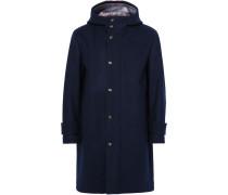 Striped Wool Hooded Coat