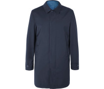 Reversible Super 150s Wool-twill And Shell Raincoat
