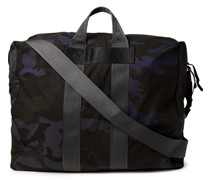 Camouflage-Print Nylon and Cotton-Ripstop Tote Bag