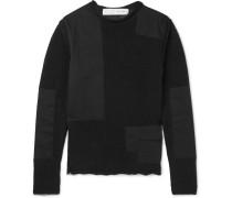 Shell-paneled Cotton-blend Sweater