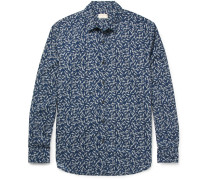 Johnny Slim-fit Floral-print Cotton-poplin Shirt