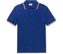 Slim-fit Contrast-tipped Cotton-piqué Polo Shirt