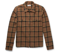Checked Cotton-flannel Jacket