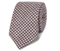 7cm Houndstooth Wool And Silk-blend Tie