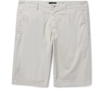 Zaine Slim-fit Stretch-cotton Twill Shorts