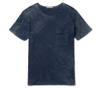 Ove Marbled Indigo-dyed Organic Cotton-jersey T-shirt
