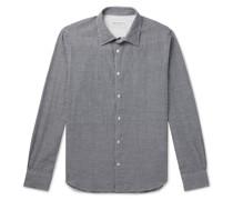 Giacomo Gingham Cotton and Linen-Blend Shirt