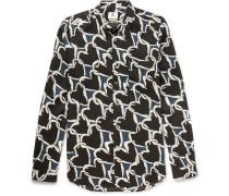Heart-print Voile Shirt