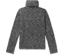 Slim-Fit Ribbed Virgin Wool-Blend Bouclé Rollneck Sweater