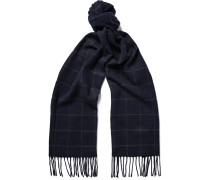Checked Wool And Cashmere-blend Scarf