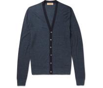 London Slim-fit Silk And Cotton-blend Cardigan