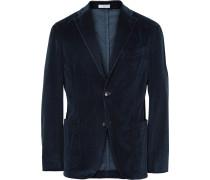 Blue K-jacket Slim-fit Stretch-cotton Corduroy Blazer