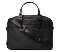 Folder Vegetable-Tanned Textured-Leather Messenger Bag