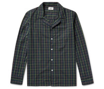 Henry Contrast-tipped Checked Cotton Pyjama Shirt