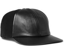 Panelled Wool-blend Felt And Leather Baseball Cap