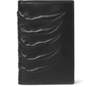 Ribcage-embossed Leather Bifold Cardholder