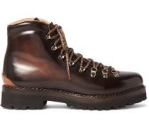 Fidel Ii Burnished-leather Boots