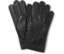 Shaftesbury Touchscreen Cashmere-lined Leather Gloves