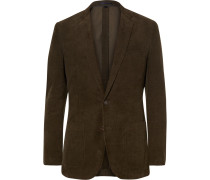 Green Ludlow Slim-fit Cotton-corduroy Blazer