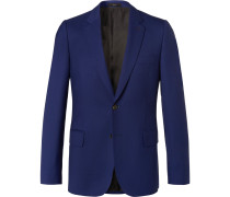 Blue Soho Travel Slim-fit Wool-twill Suit Jacket
