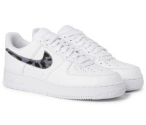 Air Force 1 LV8 Calf Hair and Croc-Effect Full-Grain Leather Sneakers