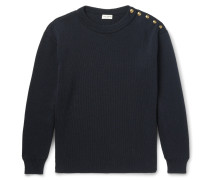 Ribbed Cotton And Wool-blend Sweater