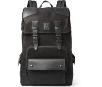 Tourmaster Leather-trimmed Nubuck Backpack