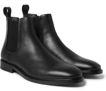 Pebble-grain Leather Chelsea Boots