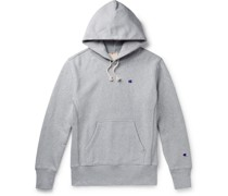 Logo-Embroidered Fleece-Back Cotton-Blend Jersey Hoodie