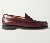 + Maharishi Weejun Larson Embossed Leather Penny Loafers