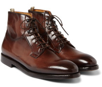 Herve Burnished-leather Boots
