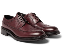 Milo Pebble-grain Leather Longwing Brogues