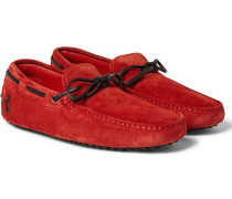 + Ferrari Gommino Suede Driving Shoes