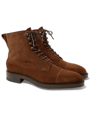 Galway Cap-toe Suede Boots - Brown