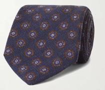 9cm Floral-Print Wool and Silk-Blend Tie