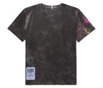 Logo-Appliquéd Tie-Dyed Cotton-Jersey T-Shirt