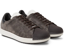 Jacohim Rubber-trimmed Suede And Shearling Sneakers