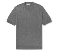 Knitted Cashmere and Silk-Blend T-Shirt