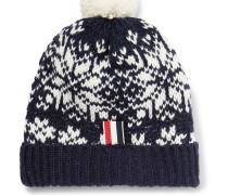 Fair Isle Wool And Mohair-blend Bobble Hat