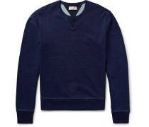 Wallace & Barnes Indigo-dyed Loopback Cotton-jersey Sweatshirt