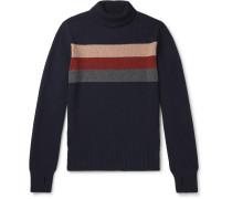 Talbot Striped Virgin Wool Rollneck Sweater