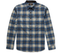 Cody Slim-fit Checked Brushed-cotton Shirt