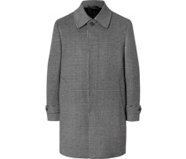Prince of Wales Checked Wool and Cashmere-Blend Coat