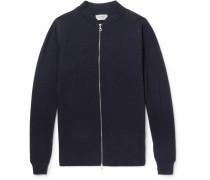 Singular Waffle-knit Merino Wool Bomber Jacket