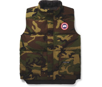 Freestyle Camouflage-print Quilted Shell Down Gilet